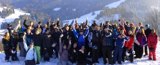 Groupe de stagiaire au ski