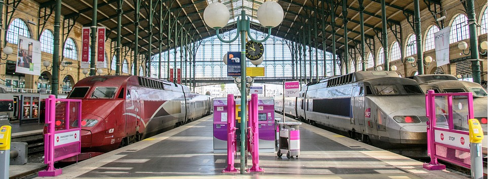 D�part � la gare du Nord Paris