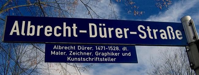 Rue Albrecht D�rer � Nuremberg