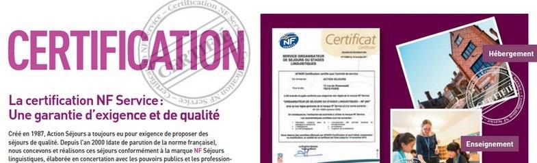 Certification NF séjours linguistiques