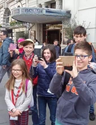 Mathys et son groupe de séjour linguistique en visite à Londres