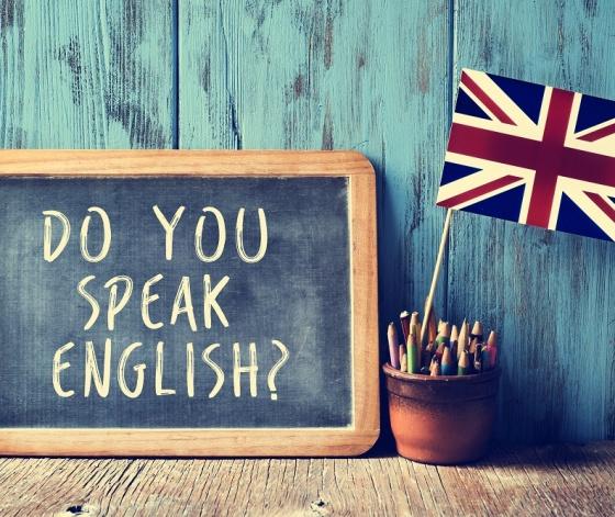 Fête de l'anglais : ardoise avec marqué