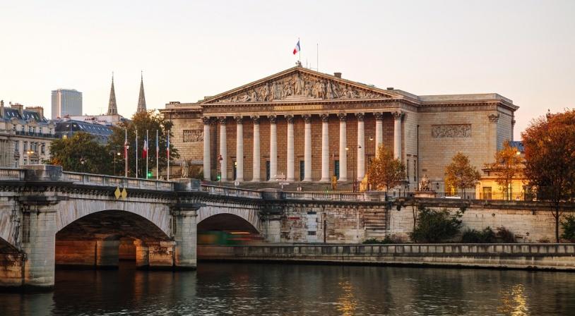 Palais Bourbon - Assemblée Nationale France vue de devant