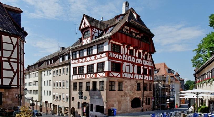 Façade avant de ma maison d'Albrecht Dürer à Nuremberg