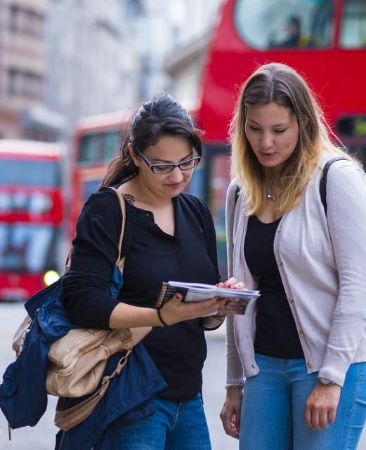 Étudiantes à Londres