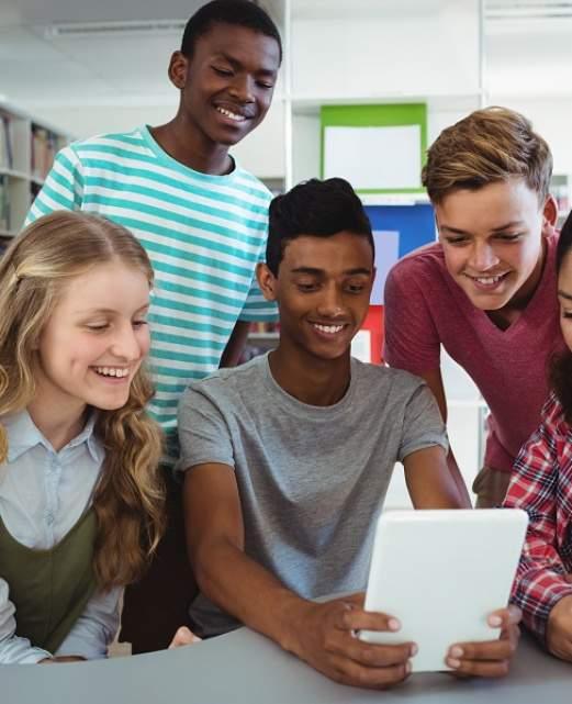 étudiants ados en Angleterre.