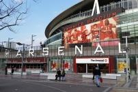 Entrée de Emirates Stadium stade de foot de l'équipe professionnelle d'Arsenal
